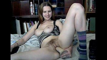 Favourite hairy girl gets her dildo out again. Camslutparadise.com