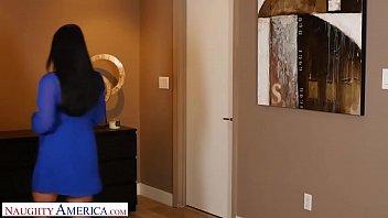 Naughty America -Angela White surprises husbands friend