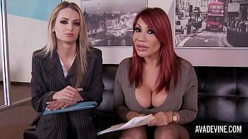 Office threesome - Ava devine and natasha starr in office threesome