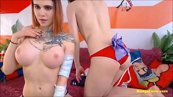 Amateur young lesbians in pussy scissoring cosplay 24 min