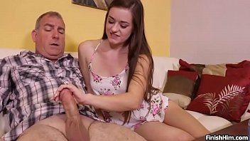 Teen Wants Fucked Try Her Handjob Skills Fuck Mature Man