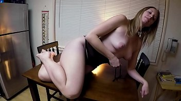 Erotic nude ass feet - Summer stripping on the table