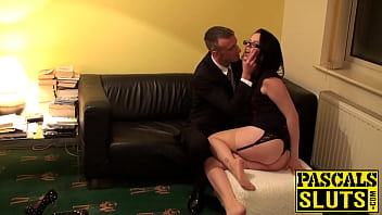 Geeky submissive beauty gets her sweet pussy fucked hard