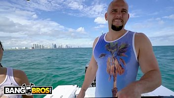 BANGBROS - J-Mac Rescues Cuban Refugee Vanessa Sky Off The Coast Of Miami LOL