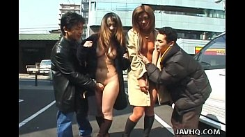 Asian folk medicine - Two wild asian girls walking naked in public
