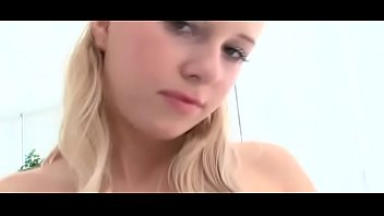 Raunchy blonde princess Barbie with great natural tits fucks on camera