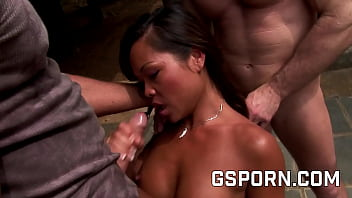 Sexy Asian Milf Have Hard Anal By The Garden Guys