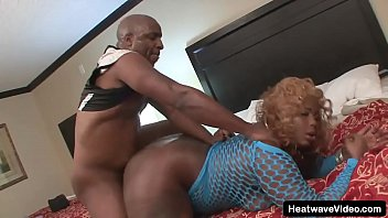 Amazing BBW ebony girl with sweet smile and a huge bubble butt fucked by bald black man