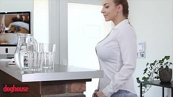 Beautiful Girl (Kiera Daniels) Moans Writhe In Pleasure As She Gets Filled Up - DogHouseDigital