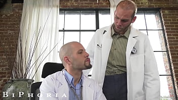 BiPhoria - Patient Wakes Up To Hot Doctors Rubbing Cocks Together