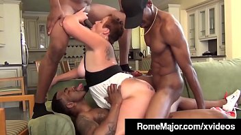 Milfs getting fucked by groups Phat milf scarlette is plump pussy pounded by 3 black cocks