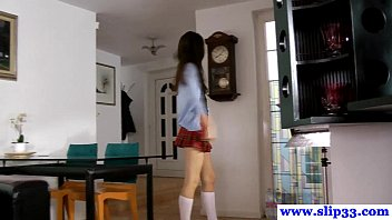 Shockhoe slip and shockhoe bottom Casted polish schoolgirl amateur loves to gag
