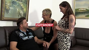 Hot German FFM threesome with horny mature babes preview image