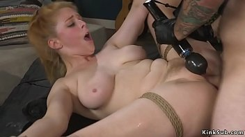 Natural busty wife rough fucked in bdsm