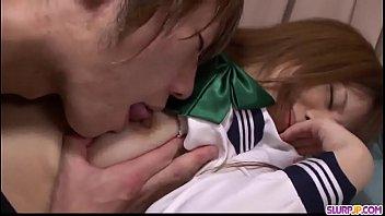 Young Noriko Kago enjoys hard sex with an older man  - More at Slurpjp.com