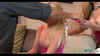 Husband and wife fuck the babysitter 831 5 min