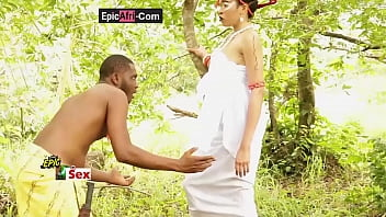Sex with an ebony goddess - Village outdoor 12分钟
