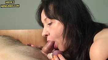 Maya edging his cock and squeezing and sucking his balls ruined orgasm 6 min