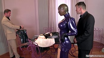 Super Kinky Latex Lucy Fucked Hard With Intense Squirting