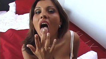 Stella puts it between her big tits and then doggie if she stuffs it inside her pussy