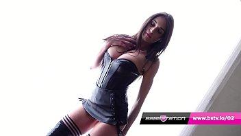 Babestation's Annabelle Lee stockings striptease