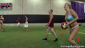 Young Teens Play Strip Dodgeball on College Rules (cr12385) 3 min