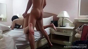 (HIDDEN CAM) Horny nerd fucks a petite Asian college girl