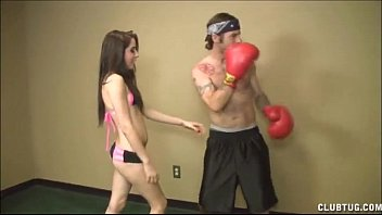 Club tug movie thumbs A topless teen jerks off a boxer