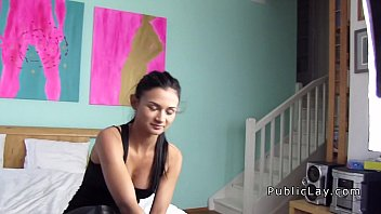 Picked up in public babe banged for cash pov