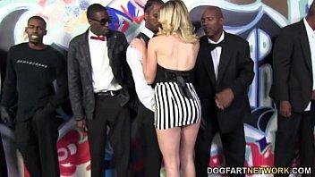 Lia Lor sucks 10 Black cocks