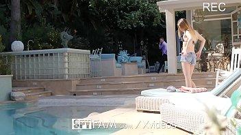 SPYFAM Step dad SPIES on masturbating step daughter