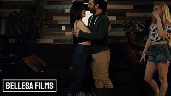 Small tit  Bffs (Jane Wilde, Emma Straletto) share cock in mff threesome - Bellesa