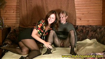 Pantyhose surprise - Sweet pantyhose couple