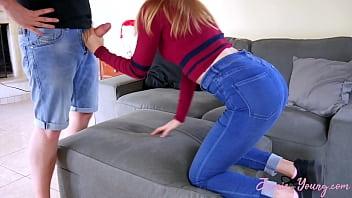German Teen hot Sex in Jeans 13 min