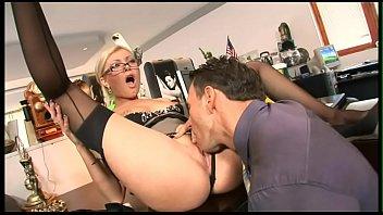 Blonde secretary fucks with the boss