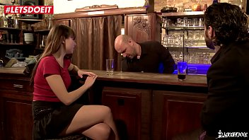 Drunk French Teen Gets Fucked in the Bar by two mature guys (Luna Rival) Preview