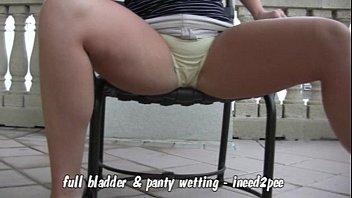 Candi Apple full bladder white panty wetting