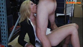 Sexy blonde milf banged at the pawnshop and received money