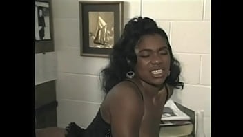 Slutty ebony with big ass Janet Jacme opens her legs to be eaten out by black stud