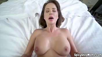 Hot brunette UK stepmother needs a hard cock every day