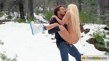 Porn riding goat Gf riding her guys dick in the snow