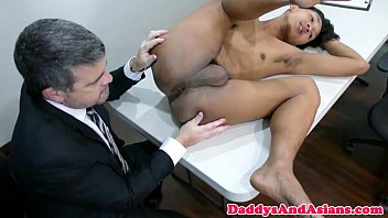 Filipino twink - Pinoy twink doggystyled by office dilf
