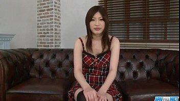 Riko Oshima amateur schoolgirl sucks cock like crazy thumbnail