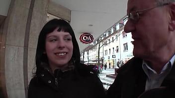WTF! Old 65yo ugly German Guy fucks his 18yo Stepdaughter 40 min
