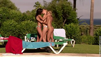 Poolside Shenanigans Sensual Lesbian Scene By Sapphix