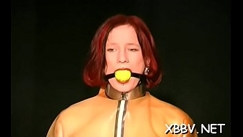 Corpulent female tied up and forced to endure bdsm xxx Thumbnail