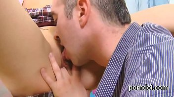 Sweet schoolgirl is seduced and pounded by her senior mentor