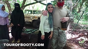 Soldiers gangbang woman free Tour of booty - american soldiers getting sweet arab pussy during downtime