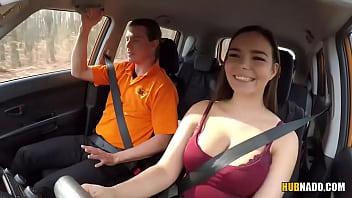 ricky rascal fucks lovely brunette babe sofia lee in the car