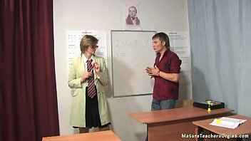 Russian mature teacher 8 - Olga (math lesson)